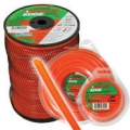 "BRUSH CUTTER TRIMMER DIAMOND EDGE (3LB) SPOOL - ORANGE - SIZE (0.155"")"