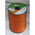 "BRUSH CUTTER TRIMMER DIAMOND EDGE (3LB) SPOOL - ORANGE -  SIZE (0.130"")"